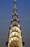 Edificio en la puesta del sol, New York City, NY de Chrysler foto de archivo
