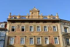Edificio en la vieja plaza en la república del control, Praga Imagen de archivo