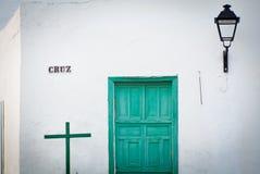 Edificio en Lanzarote imagen de archivo