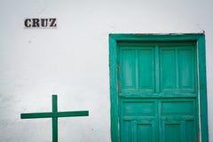 Edificio en Lanzarote imagenes de archivo