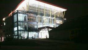 Edificio en noche Fotos de archivo libres de regalías