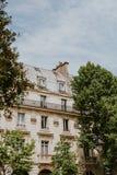 Edificio en París Fotografía de archivo libre de regalías