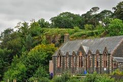 Edificio en Portree, en Escocia Fotos de archivo libres de regalías