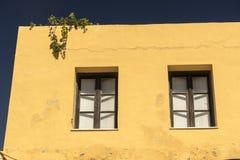 Edificio en Rhodes Old Town Fotos de archivo libres de regalías
