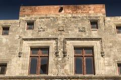 Edificio en Rhodes Old Town Fotografía de archivo