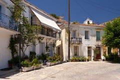 Edificio en Samos Fotos de archivo libres de regalías