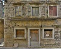Edificio en Skradin imagen de archivo