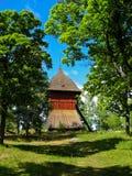 Edificio en un bosque sueco fotografía de archivo