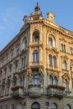 Edificio en Zagreb en Croacia fotografía de archivo