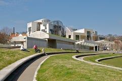 Edificio escocés del parlamento Imagen de archivo libre de regalías