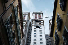 Edificio España art deco drapacz chmur w Placu De españa Zdjęcie Royalty Free
