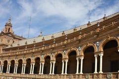Edificio español largo Imágenes de archivo libres de regalías