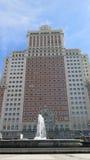 Edificio Espana в площади Espana, Мадриде Стоковое Изображение