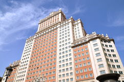 Edificio Espana building in Madrid, Spain Royalty Free Stock Photo