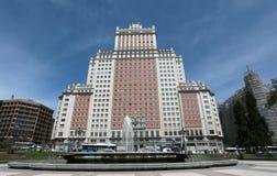 Edificio espana byggnad i madrid Royaltyfria Foton
