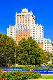 Edificio Espana en el centro de Madrid Fotografía de archivo libre de regalías