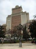 Edificio Espana a Madrid, Spagna Fotografia Stock Libera da Diritti