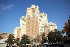 Edificio Espana a Madrid, Spagna Immagini Stock