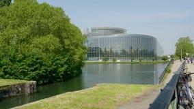 Edificio Estrasburgo de la sede del Parlamento Europeo metrajes