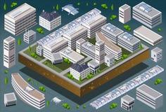 Edificio europeo isométrico libre illustration