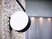 Edificio exterior de la exhibición ascendente de la mofa de la tienda del letrero Fotografía de archivo