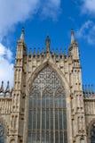 Edificio exterior de la iglesia de monasterio de York, la catedral histórica construida en el estilo gótico inglés situado en la  foto de archivo libre de regalías