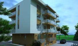 Edificio exterior, representación del diseño, arquitectura Imagenes de archivo