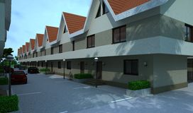 Edificio exterior, representación del diseño, arquitectura stock de ilustración