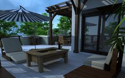 Edificio exterior, representación del diseño, arquitectura libre illustration