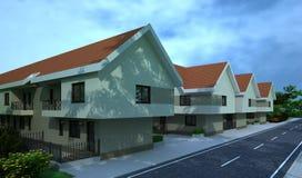 Edificio exterior, representación del diseño, arquitectura ilustración del vector