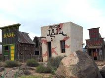 Edificio extraño en la ciudad Imagenes de archivo