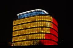 Edificio futurista Imagen de archivo libre de regalías
