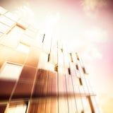 Edificio futurista stock de ilustración