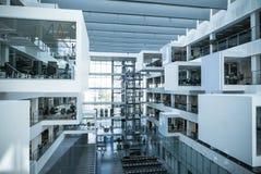 Edificio futurista de la universidad del ITU Fotografía de archivo