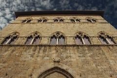 Edificio gótico toscano Fotos de archivo libres de regalías