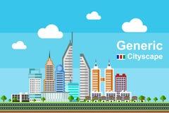 Edificio genérico del paisaje urbano - serie 1 stock de ilustración