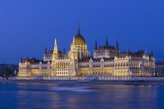 Edificio húngaro del parlamento Fotos de archivo libres de regalías