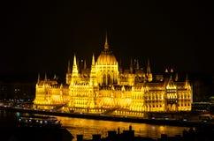 Edificio húngaro del parlamento Imagenes de archivo