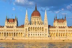 Edificio húngaro del parlamento - Budapest imagen de archivo