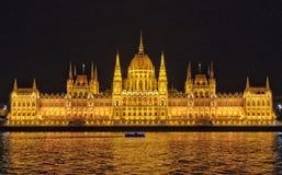 Edificio húngaro del parlamento - Budapest Foto de archivo libre de regalías