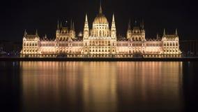 Edificio húngaro del parlamento en Budapest Foto de archivo
