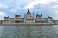 Edificio húngaro del parlamento en Budapest Fotografía de archivo libre de regalías