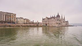 Edificio húngaro del parlamento en la ciudad Budapest Fotografía de archivo libre de regalías