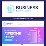 Edificio hermoso de la marca del concepto del negocio, tecnología, Smar libre illustration