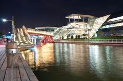 Edificio hermoso de la noche Imagenes de archivo