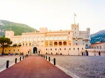 Edificio hermoso de Prince& x27; palacio de s en Mónaco-ville Fotografía de archivo