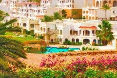 Edificio hermoso del hotel turístico en el Mar Rojo de Egipto Imágenes de archivo libres de regalías
