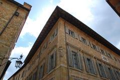 Edificio hermoso en Arezzo Italia imagenes de archivo