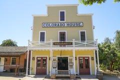 Edificio hermoso en San Diego Old Town - la casa de Colorado - SAN DIEGO - CALIFORNIA - 21 de abril de 2017 Fotografía de archivo