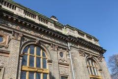 Edificio hermoso viejo en el parque de la ciudad de Budapest Imágenes de archivo libres de regalías